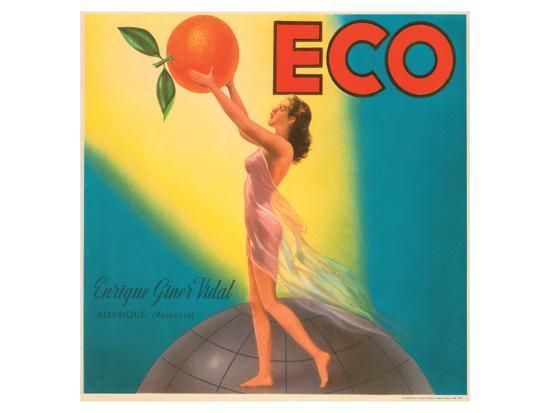 ECO Enrique Giner Vidal Oranges--Art Print