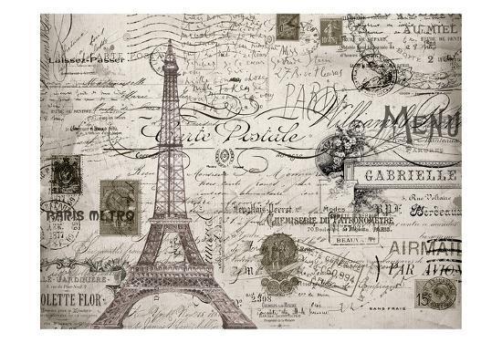 Eco Vintage Paris V2-Carole Stevens-Art Print