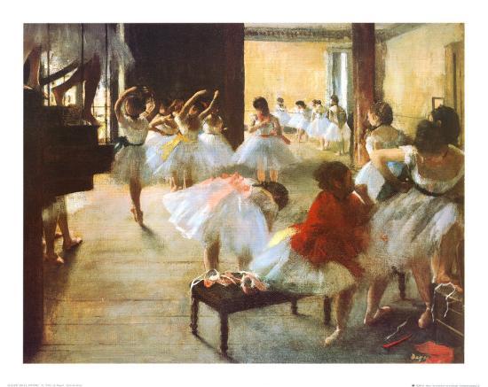 Ecole de Danse-Edgar Degas-Art Print