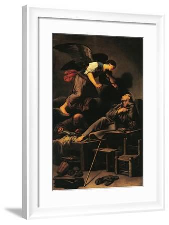 Ecstasy of St Francis, Circa 1620-Carlo Saraceni-Framed Giclee Print