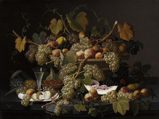 Ecstatic Fruit, 1852-Severin Roesen-Giclee Print