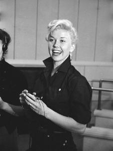 """Actress Doris Day During Rehearsals for the Film """"Calamity Jane"""" by Ed Clark"""
