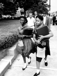 African American Students Going to the 8th Grade as Segregation Ends by Ed Clark