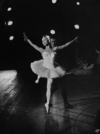 "Ballerina Maria Tallchief Performing in ""Swan Lake"""