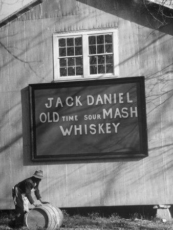Barrel Being Rolled to Warehouse at Jack Daniels Distillery