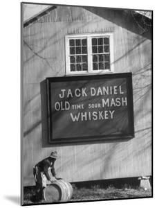 Barrel Being Rolled to Warehouse at Jack Daniels Distillery by Ed Clark