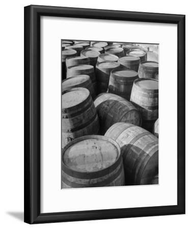 Barrels Sitting in Warehouse at Jack Daniels Distillery