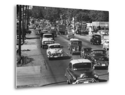 Cars Filling the Roadway on Route 1 Between Washington and Baltimore