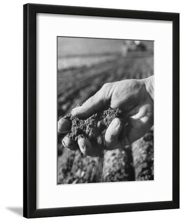 Farmer Holding a Handful of Soil