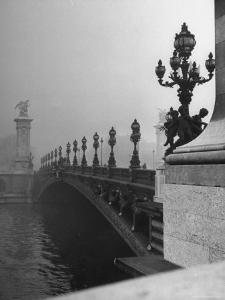 Looking Across the Pont Alexandre III Bridge Toward the Grand Palace by Ed Clark