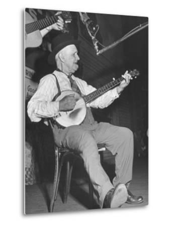 Man Playing the Banjo Onstage at the Grand Ole Opry