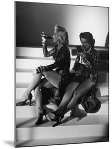 """Marilyn Monroe and Jane Russell During a Break While Filming """"Gentlemen Prefer Blondes"""" by Ed Clark"""