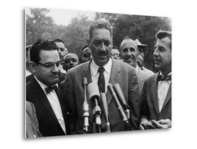 Naacp Lawyer Thurgood Marshall Speaking to the Press