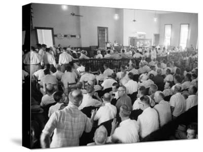Overall of Courtroom During Trial of Two White Men for the Murder of Black Teenager Emmett Till