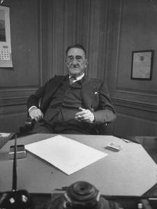 Publisher of Post-Dispatch Newspaper Joseph Pulitzer Jr., Sitting in His Office by Ed Clark