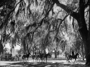 Quail Hunters Riding on Horseback by Ed Clark