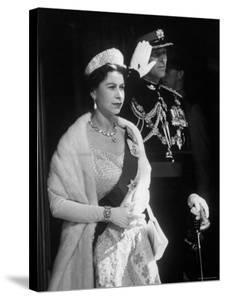 Queen Elizabeth and Prince Philip, at the Opening of the Canadian Parliament by Ed Clark