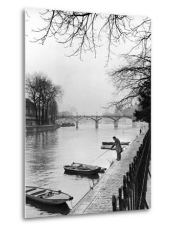 Rowboats Tied Up Along the Seine River