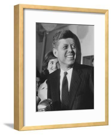 Sen. John F. Kennedy and His Wife