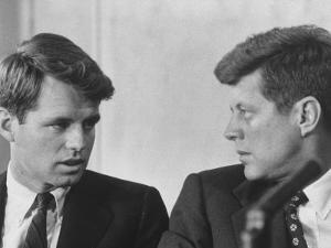 Senators Robert and John F. Kennedy, During a Senate Comm. Hearing Regarding the Kohler Strike by Ed Clark