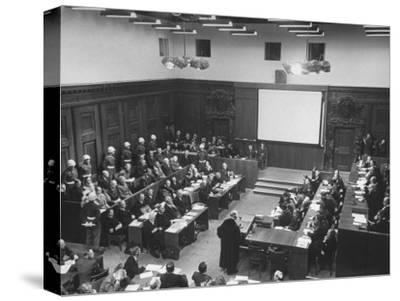 The Courtroom Crowded with Lawyers and Defendents During the Nuremberg Trial