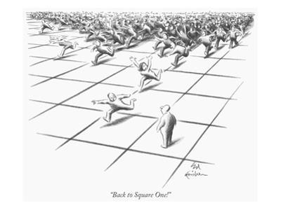 """""""Back to Square One!"""" - New Yorker Cartoon by Ed Fisher"""