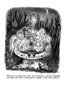 """""""Same for my department.  Over the last period we collected 14,273,865 mor?"""" - New Yorker Cartoon by Ed Fisher"""