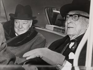 Churchill & Baruch talk in car in front of Baruch's home, 1961 by Ed Ford