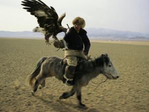 A Mongolian Eagle Hunter in Kazahkstan by Ed George