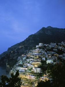 An Aerial View of Hillside Villages of Positano by Ed George