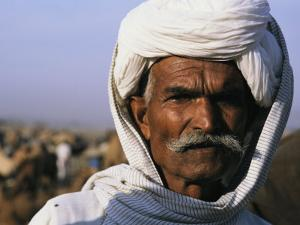 An Informal Portrait of an Indian Man by Ed George