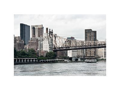 Ed Koch Queensboro Bridge, Sutton Place and Buildings, East River, Manhattan, New York, White Frame-Philippe Hugonnard-Photographic Print