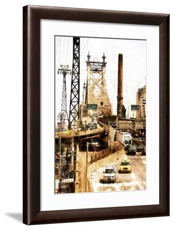 Ed Koch Queensboro Bridge Traffic II-Philippe Hugonnard-Framed Giclee Print