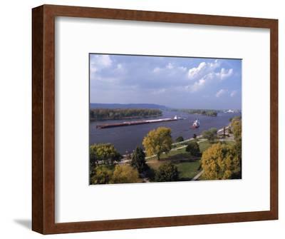 Aerial of Mississippi River, La Crosse, WI