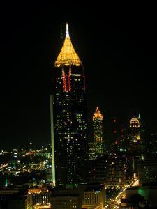 Atlanta Tower and Skyline at Night, Atlanta, GA by Ed Langan