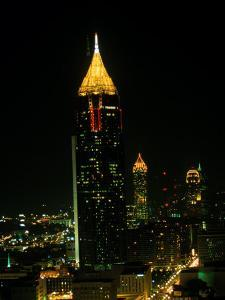 Atlanta Tower and Skyline at Night, Atlanta, GA by Ed Langan