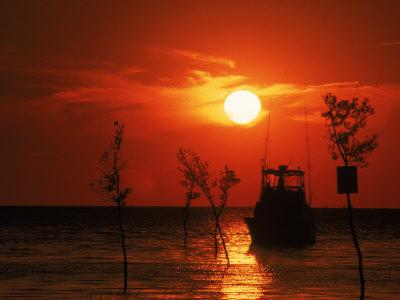 Fishing Boat, Sunset, Rock Harbor, Cape Cod, MA