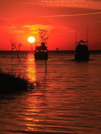 Fishing Boats, Sunset, Rock Harbor, Cape Cod, MA