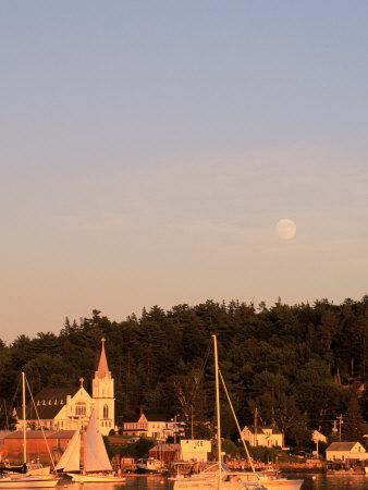 Full Moon Rising Over Boothbay Harbor, ME