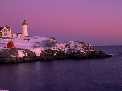 Nubble Lighthouse, Sunset, Cape Neddick, York, ME