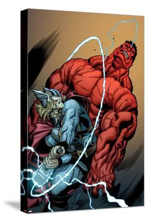 Hulk No.26 Cover: Rulk and Thor Fighting