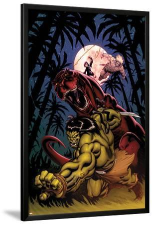 Skaar: King of The Savagle Land No.2 Cover: Skaar, Devil Dinosaur, Moon Boy, and Ka-Zar