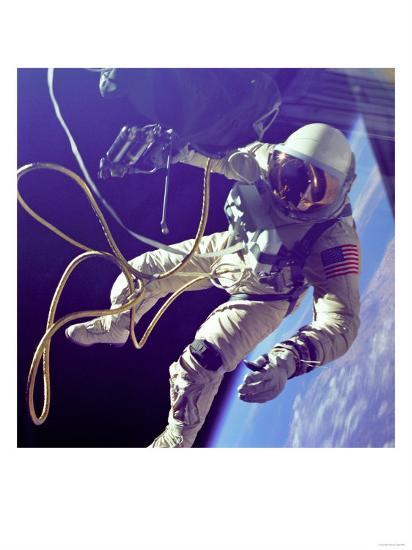 Ed White First American Spacewalker Photograph - Cape Canaveral, FL-Lantern Press-Art Print
