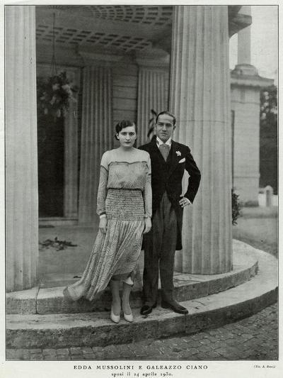 Edda Mussolini, Daughter--Photographic Print