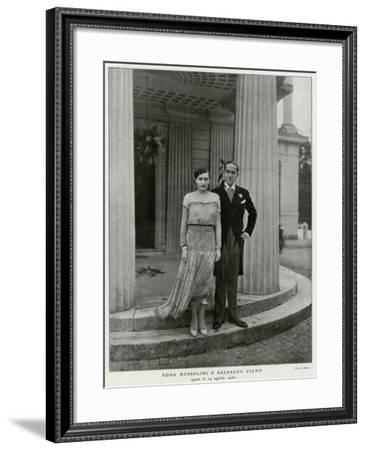 Edda Mussolini, Daughter--Framed Photographic Print