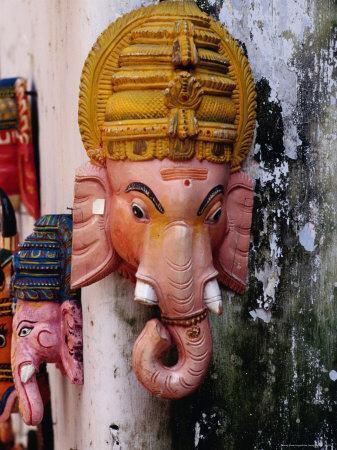 Wooden Elephant Masks, Kochi, India