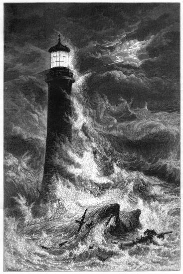 Eddystone Lighthouse, 19th Century--Giclee Print