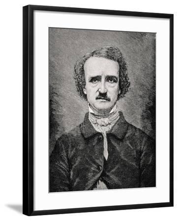 Edgar Allan Poe (1809-1849) American Poet, Critic and Short Story Writer--Framed Giclee Print