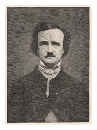 Edgar Allan Poe American Writer-Timothy Cole-Giclee Print