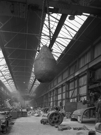 Edgar Allen Steel Foundry, Meadowhall, Sheffield, South Yorkshire, 1962-Michael Walters-Photographic Print